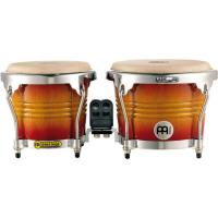 "Photo MEINL FWB200 BONGOS 6"" 3/4 & 8"" FREE RIDE BOIS - AZTEC RED FADE"