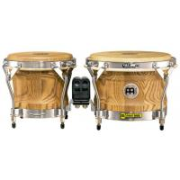 "Photo MEINL WB500 BONGOS 7 & 9"" FREE RIDE WOODCRAFT - ZEBRA FINISHED ASH"