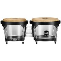 "Photo MEINL HB50 BONGOS 6"" 1/2 MACHO & 7"" 1/2 HEMBRA ACRYLIQUE - TRANSPARENT"