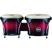 "Photo MEINL MHB100 BONGOS 6"" 3/4 MACHO ET 8"" HEMBRA BOIS - WINE RED BURST"