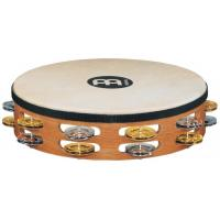 "Photo MEINL TAMBOURIN BOIS 10"" RECORDING-COMBO - SUPER NATURAL AVEC PEAU"