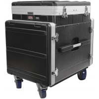 Photo GATOR GRC12X10PU FLIGHT CASE REGIE SUR ROULETTES 12U TOP ET 10U DEVANT