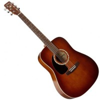 Photo ART & LUTHERIE DREADNOUGHT GAUCHER - CEDAR ANTIQUE BURST