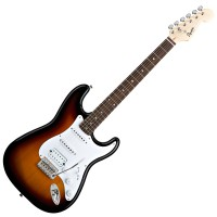 Photo SQUIER BULLET STRATOCASTER HSS BROWN SUNBURST ROSEWOOD