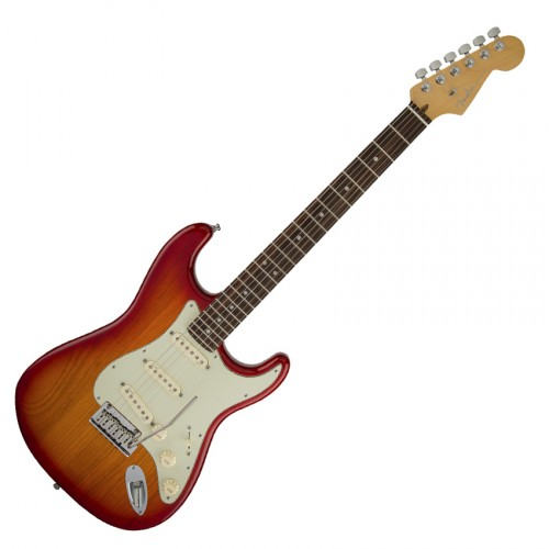 FENDER AMERICAN DELUXE STRAT ASH AGED CHERRY BURST ROSEWOOD