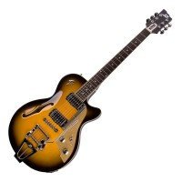 Photo DUESENBERG STARPLAYER TV 2 TONE SUNBURST + ETUI
