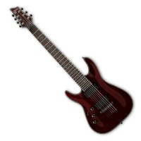 Photo SCHECTER HELLRAISER C-7 BLACK CHERRY GAUCHER