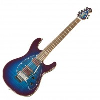 Photo MUSIC MAN STEVE MORSE YD2 DE-PURPLE BURST + FLOYD ROSE + TÊTE ASSORTIE