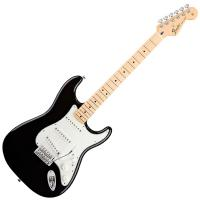Photo FENDER STANDARD STRATOCASTER BLACK MAPLE