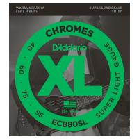 Photo D'ADDARIO ECB80SL XL CHROMES SUPER LIGHT 40/95 SUPER LONG SCALE