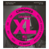 Photo D'ADDARIO ECB81M XL CHROMES REGULAR LIGHT 45/100 MEDIUM SCALE
