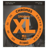 Photo D'ADDARIO ECB82 XL CHROMES MEDIUM 50/105 LONG SCALE