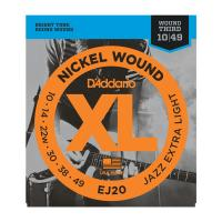 Photo D'ADDARIO EJ20 XL NICKEL WOUND JAZZ EXTRA LIGHT 10/49
