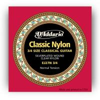 Photo D'ADDARIO EJ27N 3/4 CLASSIC NYLON NORMAL TENSION