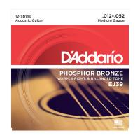 Photo D'ADDARIO EJ39 PHOSPHOR BRONZE 12-STRING MEDIUM 12/52