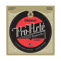Photo D'ADDARIO EJ45C PRO ARTE COMPOSITES NORMAL TENSION SILVER/CLEAR
