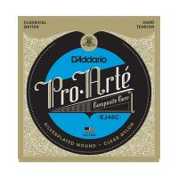 Photo D'ADDARIO EJ46C PRO ARTE COMPOSITES HARD TENSION SILVER/CLEAR