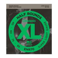 Photo D'ADDARIO ENR70 XL HALF ROUNDS SUPER LIGHT 40/95 LONG SCALE