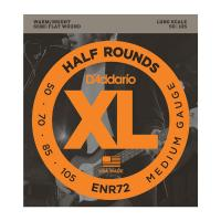 Photo D'ADDARIO ENR72 XL HALF ROUNDS MEDIUM 50/105 LONG SCALE