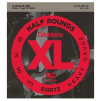 Photo D'ADDARIO ENR73 XL HALF ROUNDS HEAVY 55/110 LONG SCALE
