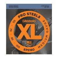 Photo D'ADDARIO EPS160 PROSTEELS MEDIUM 50/105 LONG SCALE