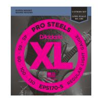 Photo D'ADDARIO EPS170-5 PROSTEELS 5-ST LIGHT 45/130 LONG SCALE