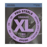 Photo D'ADDARIO EPS190 PROSTEELS CUSTOM LIGHT 40/100 LONG SCALE