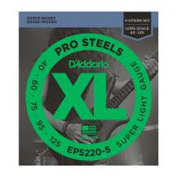 Photo D'ADDARIO EPS220-5 PROSTEELS 5-ST SUPER LIGHT 40/125 LONG SCALE