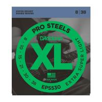 Photo D'ADDARIO EPS530 PROSTEELS EXTRA-SUPER LIGHT 8/38