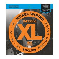 Photo D'ADDARIO ESXL160 DOUBLE BALL MEDIUM 50/105 LONG SCALE