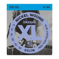 Photo D'ADDARIO EXL116 NICKEL WOUND MEDIUM TOP/HEAVY BOTTOM 11/52
