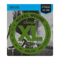 Photo D'ADDARIO EXL117 NICKEL WOUND MEDIUM TOP/EXTRA-HEAVY BOTTOM 11/56