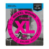Photo D'ADDARIO EXL150 NICKEL WOUND 12-ST REGULAR LIGHT 10/46