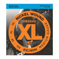 Photo D'ADDARIO EXL160M NICKEL WOUND BASS MEDIUM 50/105 MEDIUM SCALE