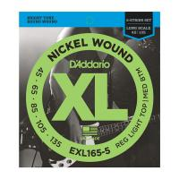 Photo D'ADDARIO EXL165-5 NICKEL WOUND 5-ST BASS CUSTOM LIGHT 45/135 LONG SCALE