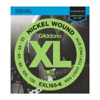 Photo D'ADDARIO EXL165-6 NICKEL WOUND 6-ST BASS CUSTOM LIGHT 32/135 LONG SCALE