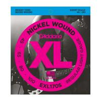 Photo D'ADDARIO EXL170S NICKEL WOUND BASS LIGHT 45/100 SHORT SCALE