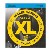 Photo D'ADDARIO EXL180 NICKEL WOUND BASS EXTRA SUPER LIGHT 35/95 LONG SCALE