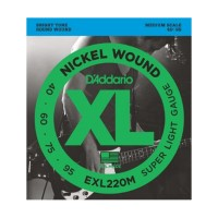 Photo D'ADDARIO EXL220M NICKEL WOUND BASS SUPER LIGHT 40/95 MEDIUM SCALE