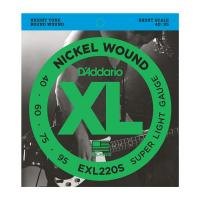 Photo D'ADDARIO EXL220S NICKEL WOUND BASS SUPER LIGHT 40/95 SHORT CALE