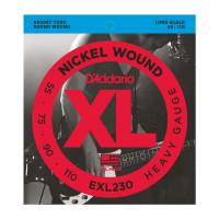 Photo D'ADDARIO EXL230 NICKEL WOUND BASS HEAVY 55/110 LONG SCALE