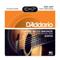 Photo D'ADDARIO EXP10 COATED 80/20 BRONZE EXTRA LIGHT 10/47