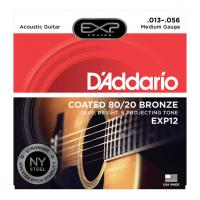 Photo D'ADDARIO EXP12 COATED 80/20 BRONZE MEDIUM 13/56