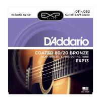 Photo D'ADDARIO EXP13 COATED 80/20 BRONZE CUSTOM LIGHT 11/52