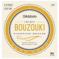 Photo D'ADDARIO EJ81 IRISH BOUZOUKI PHOSPHOR BRONZE