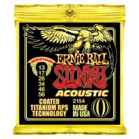Photo ERNIE BALL ACOUSTIC 2154 COATED TITANIUM RPS SLINKY MEDIUM 13/56