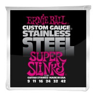 Photo ERNIE BALL ELECTRIC 2248 STAINLESS STEEL SUPER SLINKY 9/42