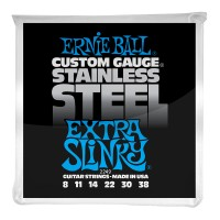 Photo ERNIE BALL ELECTRIC 2249 STAINLESS STEEL EXTRA SLINKY 8/38