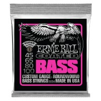 Photo ERNIE BALL BASS 3834 COATED SUPER SLINKY 45/100