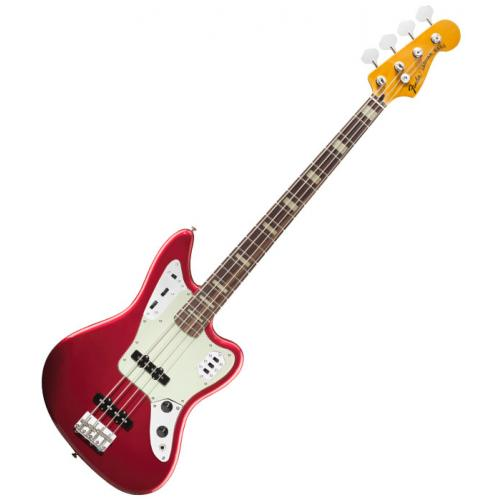 FENDER DELUXE JAGUAR BASS CANDY APPLE RED RW
